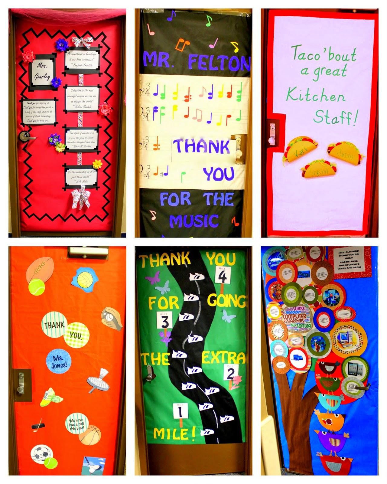 Crafty Sisters: Teacher Appreciation Door Decorations 2014