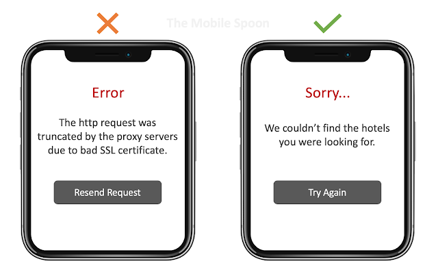 Curse of knowledge in UI error messages - the mobile spoon