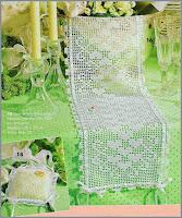 Crochet hearts runner _crochet filet