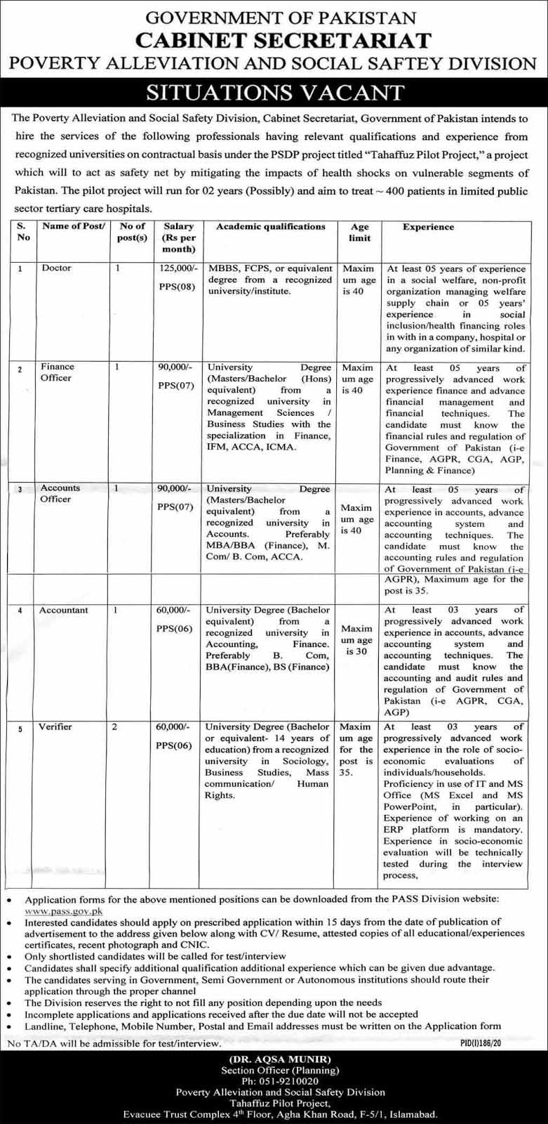 Multiple Jobs in Poverty Alleviation And Social Safety Division 2020