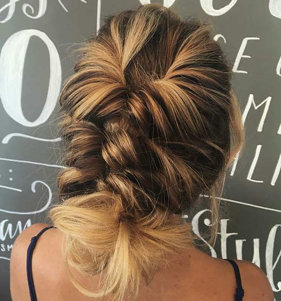 TWISTED UPDO SIMPLE PROM HAIRSTYLE FOR TEENS 2018 SUMMER STYLE