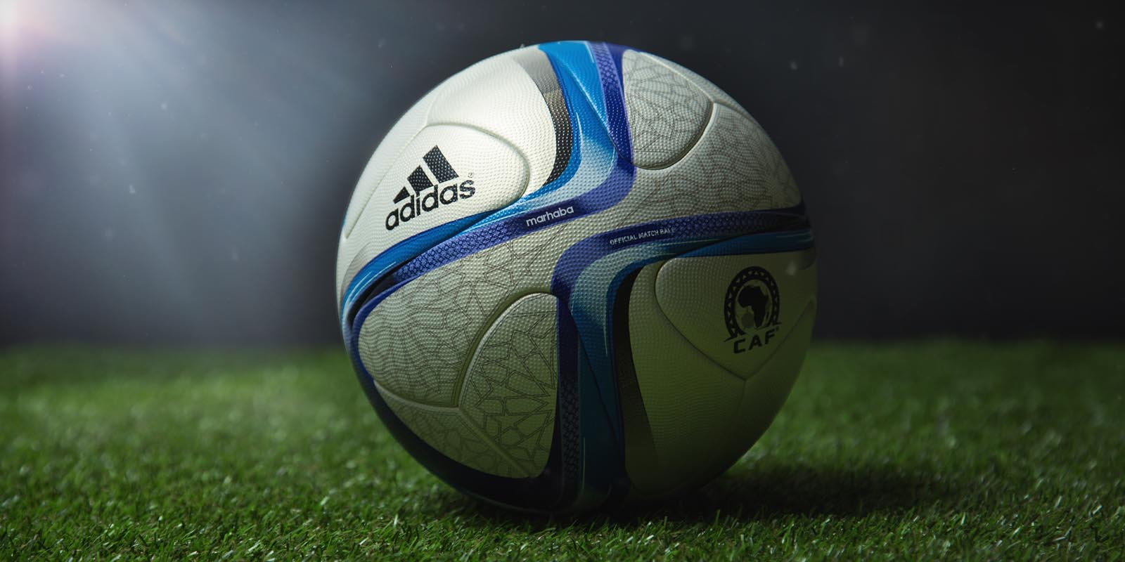 243f7f0f7b0 Based on the visual design of the new Adidas Conext 15 Ball, the 2015 Africa  Cup of Nations Official Match Ball features a beige main color with an ...