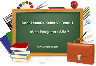 Soal Tematik Kelas 6 Tema 1 Mapel SBdP dan Kunci Jawaban
