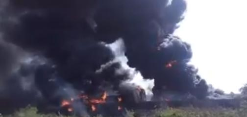 Video: Fuel tanker, other vehicles on fire along Abuja-Kaduna Road
