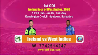 Who will win Today 1st ODI Match WI vs IRE - Cricfrog
