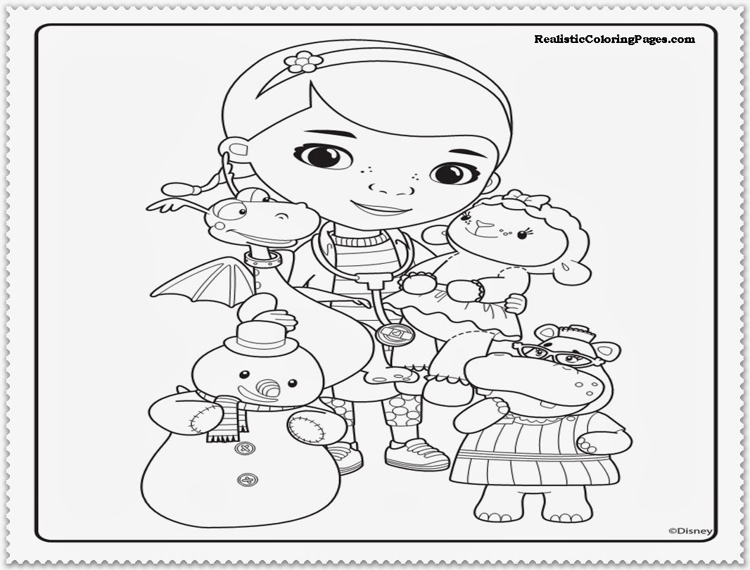 doc mcstuffins coloring pages free