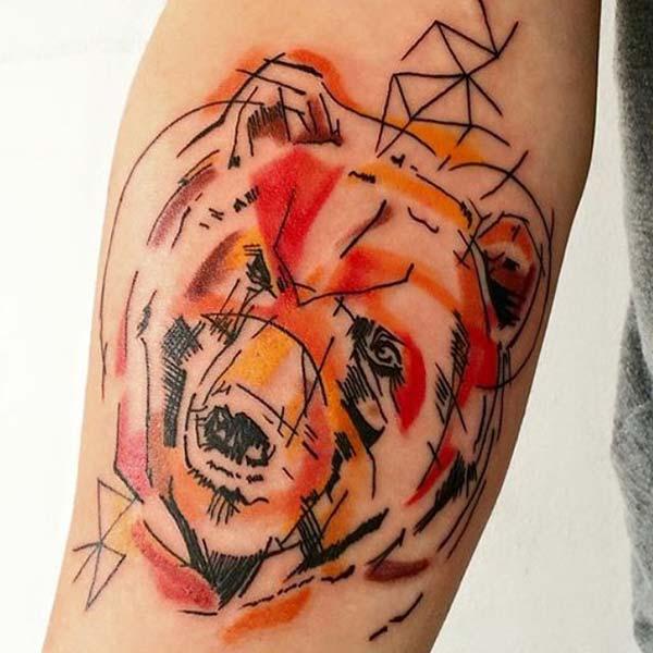 ayı dövmesi çizimi