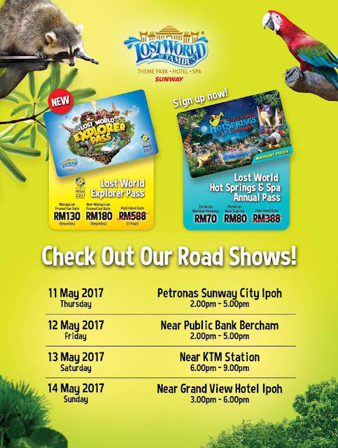 Sunway Lost World Of Tambun Explorer Pass Hot Springs Annual Pass Promo Rates