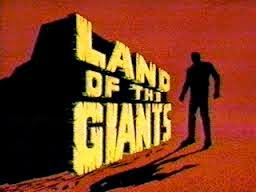 sci-fi Land of the Giants logo screen