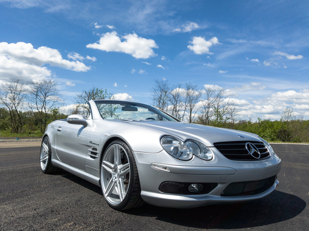 2003 mercedes benz r230 sl55 amg on r20 niche wheels for Mercedes benz sl55 amg