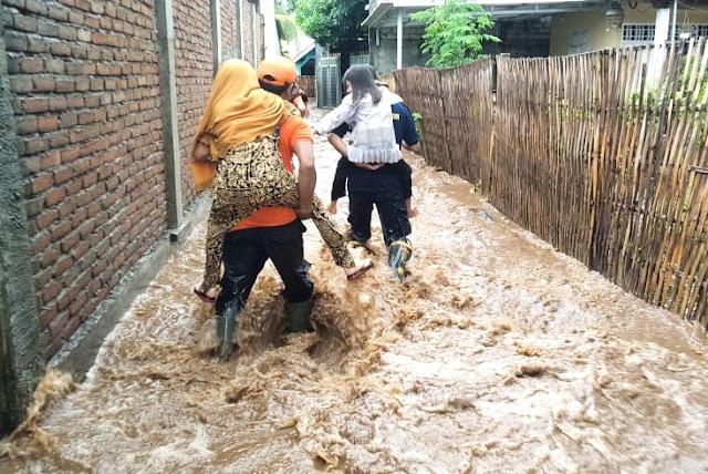 Cuaca ekstrim di Lotim akibatkan ribuan rumah terendam banjir