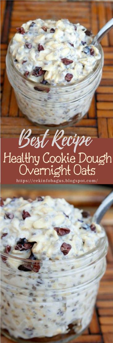 Healthy Cookie Dough Overnight Oats #healthyfood #dietketo #breakfast #food