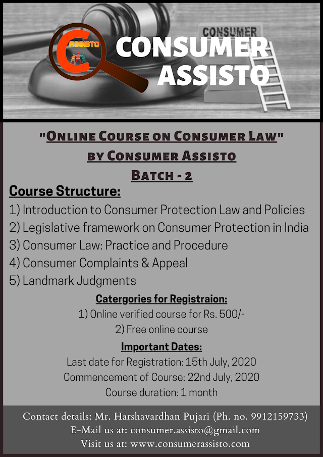[Online Course] on Consumer Law by Consumer Assisto [Register by 15 July 2020]