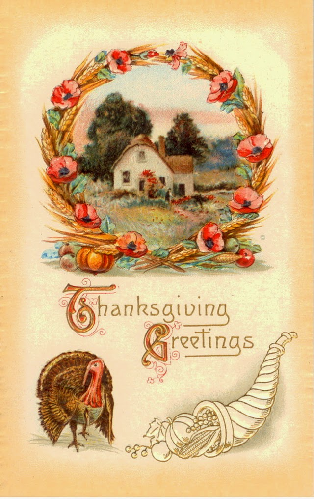 25 Colorful Vintage Thanksgiving Turkey Postcards