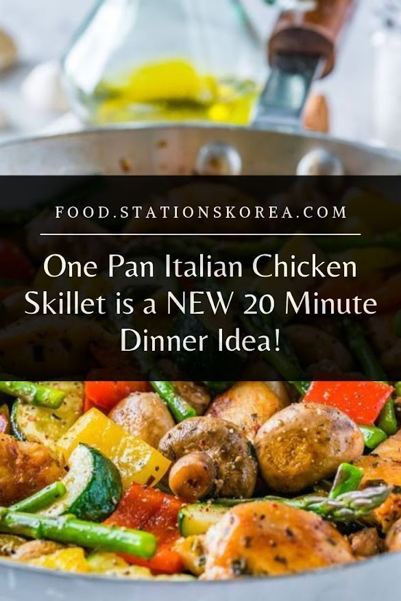 One Pan Italian Chicken Skillet is a NEW 20 Minute Dinner Idea!