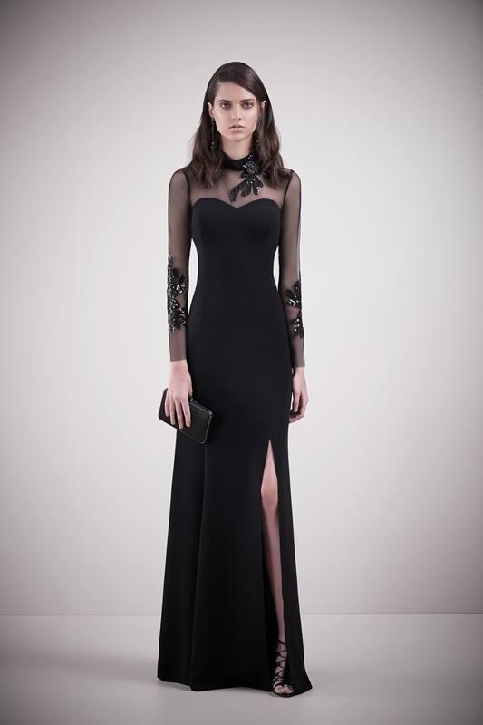 Vestidos pretos longos de festa