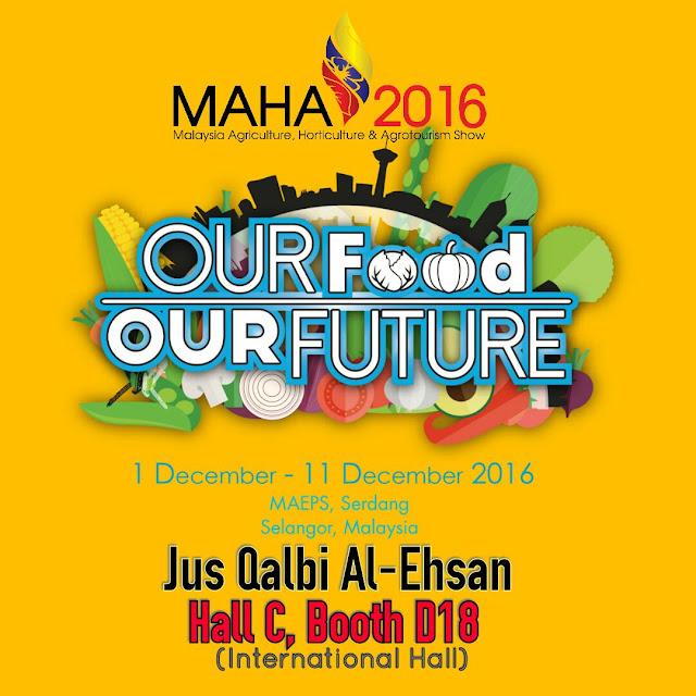 JUS QALBI AL-EHSAN DI MAHA 2016 BOOTH D18, HALL C MAEPS, SERDANG SELANGOR