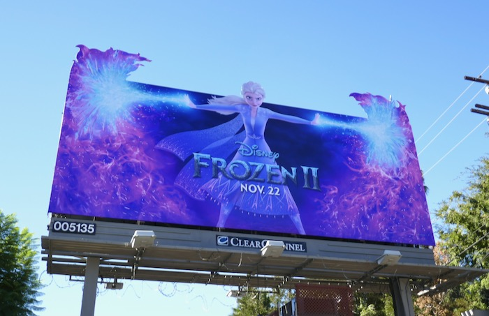 Frozen II Elsa extension billboard