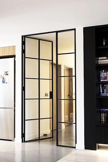 Loft glass doors