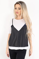 Tricou Dama Zara Black And White Tyna