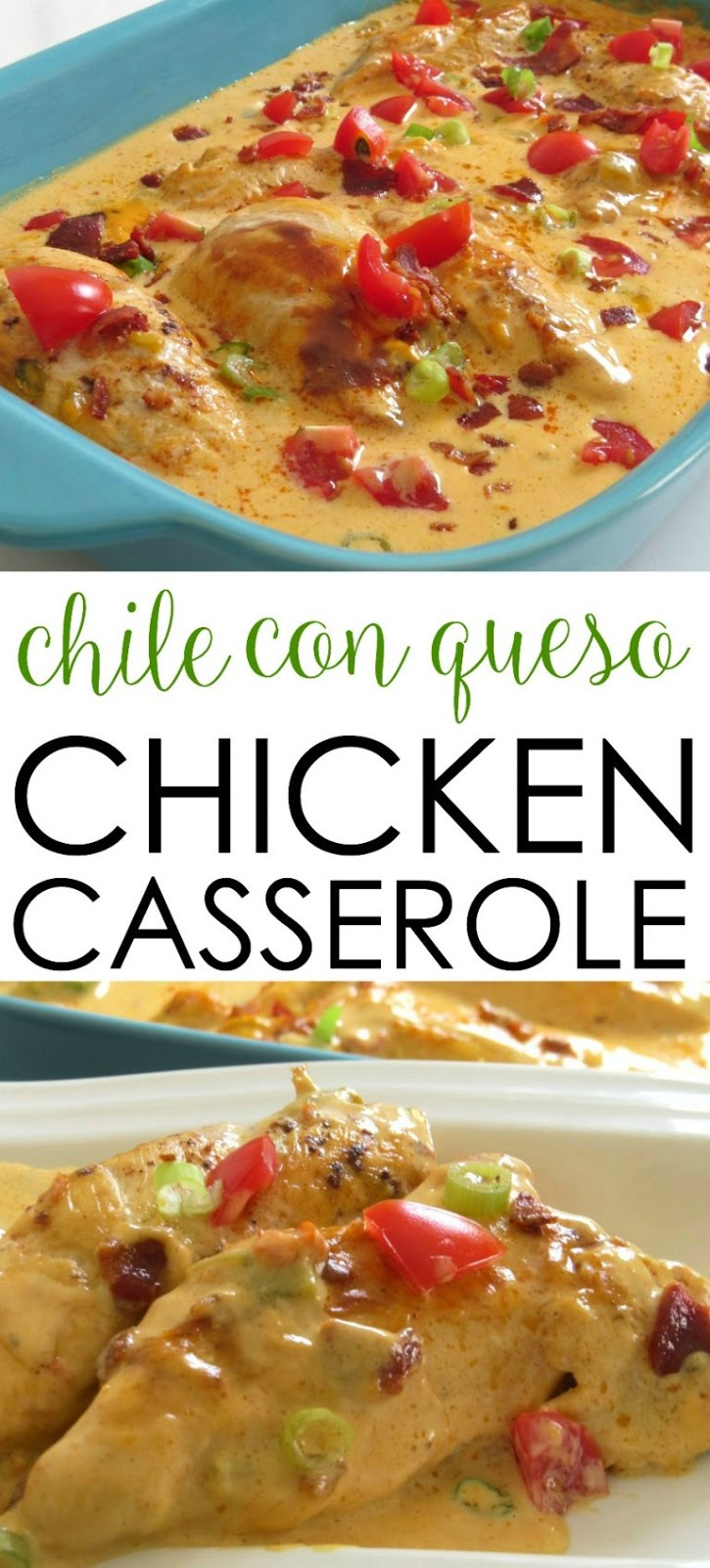 CHILE CON QUESO CHICKEN CASSEROLE