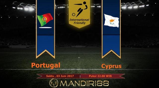 Prediksi Bola : Portugal Vs Cyprus , Sabtu 03 Juni 2017 Pukul 22.00 WIB