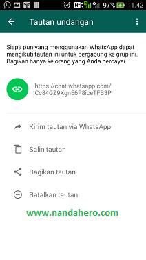 cara menambah anggota grup whatsapp melalui tautan link
