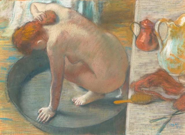 Эдгар Дега - Женщина, моющая спину в тазу (1886)