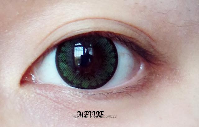 Sponsored Review Circle Lens Ellen Panda PM 13 Green korea ulzzang kfashion kbeauty