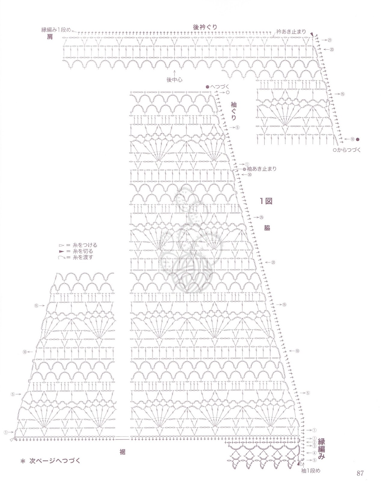 Ergahandmade Crochet Top Diagrams