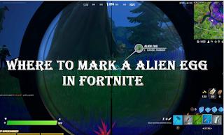 Where to mark a alien egg in Fortnite Season 7 week 7