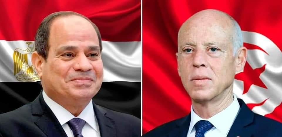 الرئيس السيسي يتلقي اتصالاً هاتفياً من الرئيس قيس سعيد رئيس الجمهورية التونسية