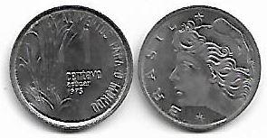 1 centavo FAO, 1975