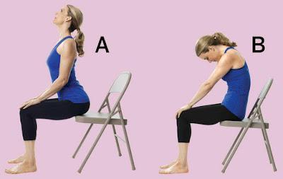 Tư thế Yoga con mèo trên ghế