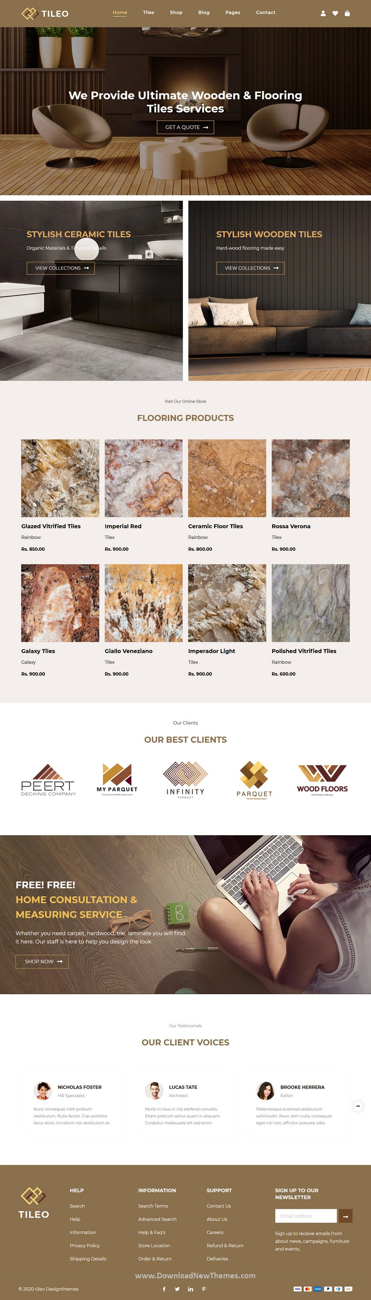 Tiling and Flooring Shopify Theme