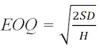 Perhitungan EOQ menurut Handoko