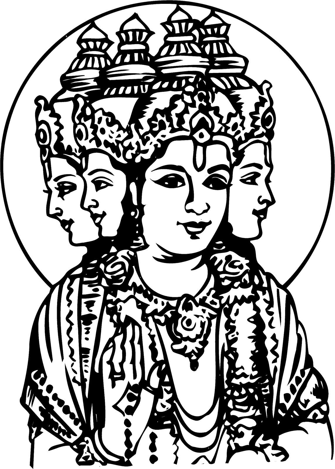 Line Art Hindu Gods : All in one wallpapers pencil drawings hindu gods