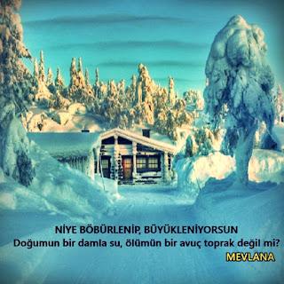 Kış Manzaralı Resimli Sözler