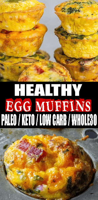 HEALTHY #EGGMUFFINS – #PALEO / #KETO / #LOWCARB / #WHOLE30
