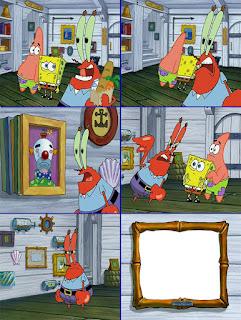 Polosan meme spongebob dan patrick 124 - badut di cat dinding tuan krab yang luntur
