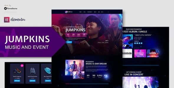 Best Music and Event Elementor Template Kit