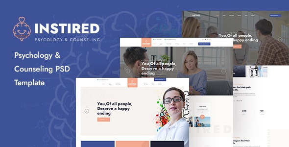Best Psychology and Counseling PSD Template