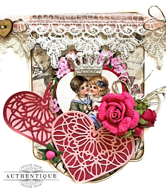 Valentine's Day Home Decor Banner Authentique Adore by Kathy Clement