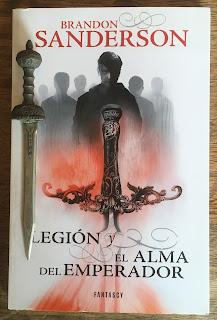 Portada del libro Legión, de Brandon Sanderson