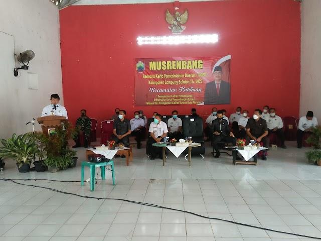 Burhanuddin Buka Musrenbang RKPD Kecamatan Katibung