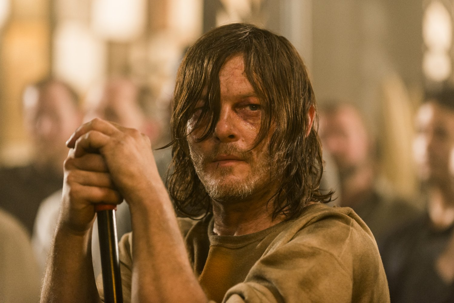 Darryl, cautivo por Negan, en la séptima temporada de The Walking Dead