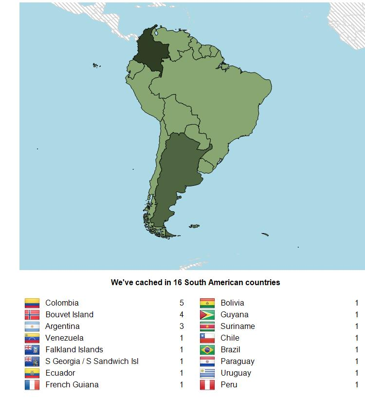 My Geocaching Profile Blog: South America Added to Other Maps!