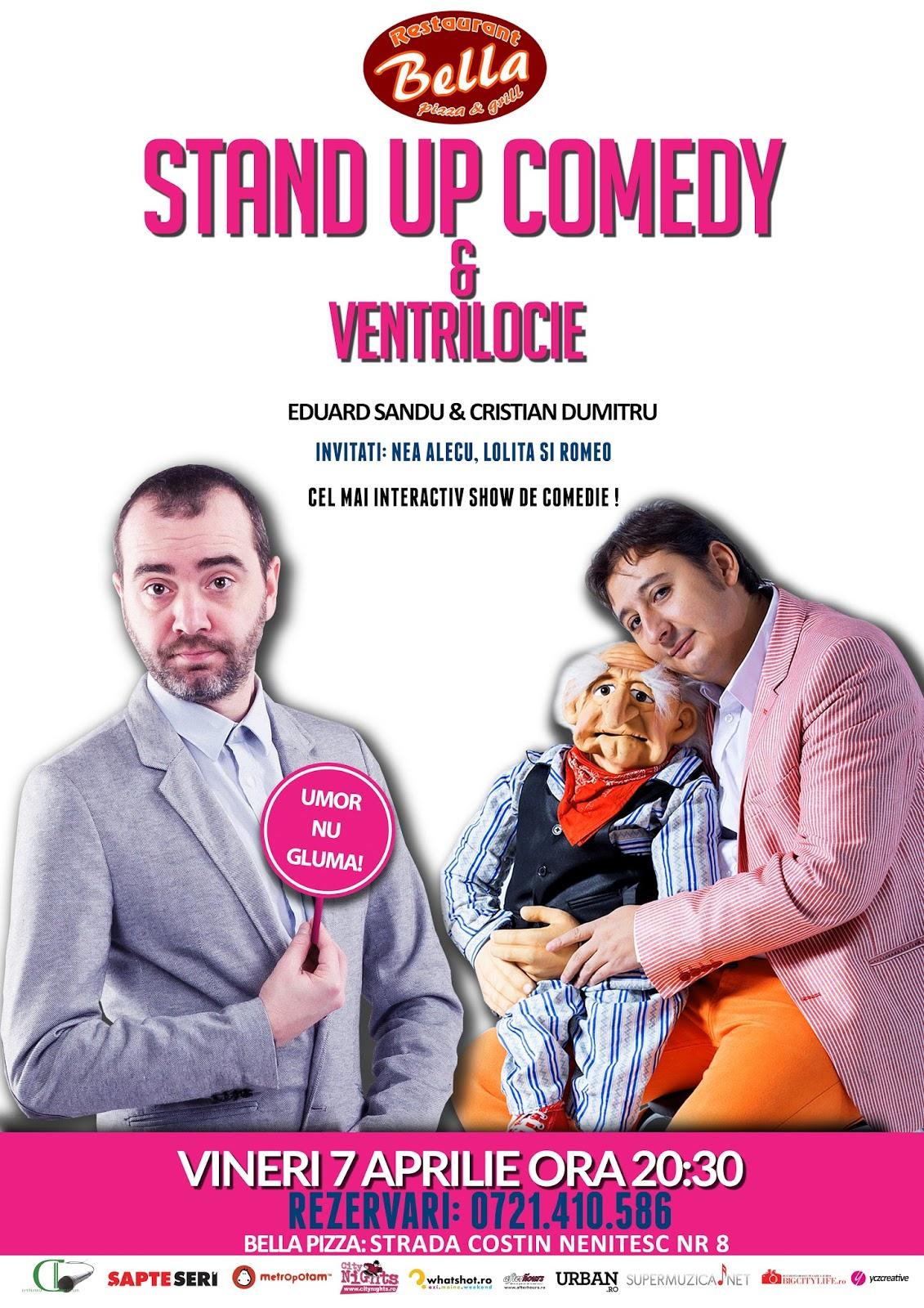 Stand-up Comedy & Ventrilocie Vineri 7 Aprilie Bucuresti