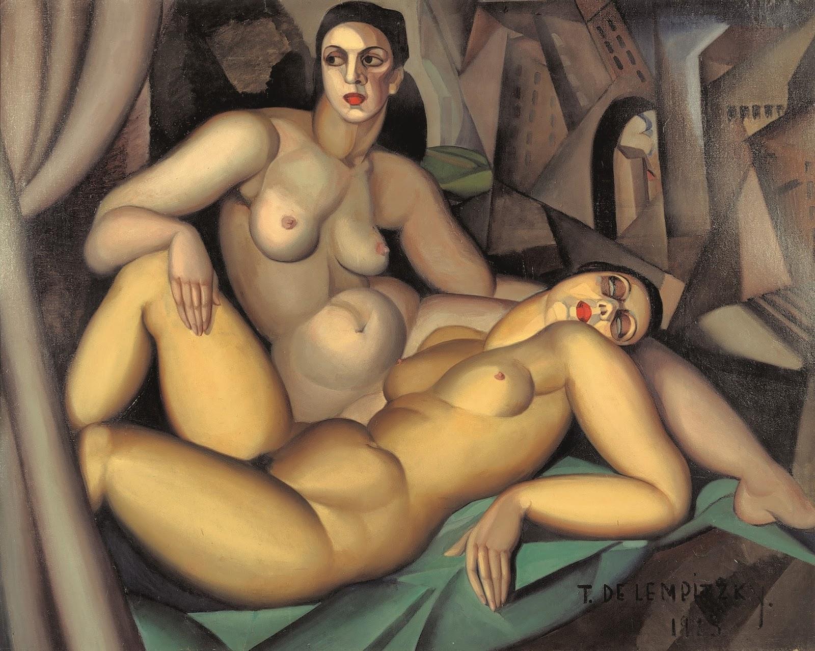 Tamara  de  Lempicka C  Prospettiva   le  due  amiche  C