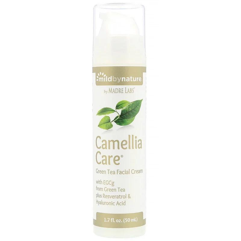 Mild By Nature, Camellia Care, крем для кожи с ЭГКГ из зеленого чая, 1,7 жидкой унции (50 мл)